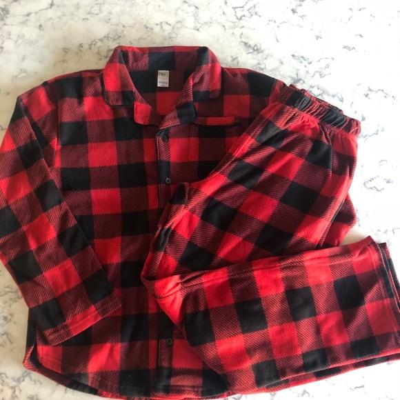 Nwt Gap Kids Boys 4 Red /& Black Buffalo Plaid Flannel Pajamas